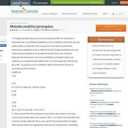 Metodo analitico jerarquico - Documentos - Zoom80