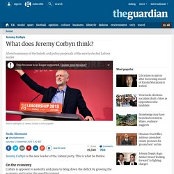 What does Jeremy Corbyn think?
