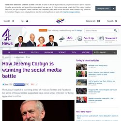 How Jeremy Corbyn is winning the social media battle