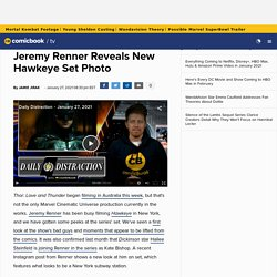 Jeremy Renner Reveals New Hawkeye Set Photo