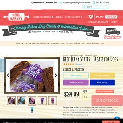 Beef Jerky Treats for Dogs - Made in the USA - Grain Free-100% Natural - The Dog Bakery