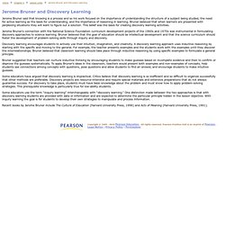 Jerome Bruner and Discovery Learning