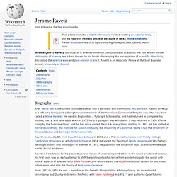 Jerome Ravetz wikipedia