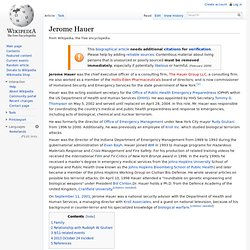 Jerome Hauer - Wikipedia, the free encyclopedia - Nightly