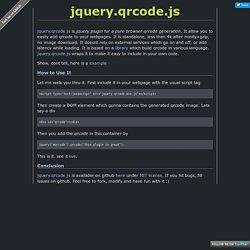 jeromeetienne.github.io/jquery-qrcode/