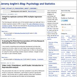 Psychology and Statistics