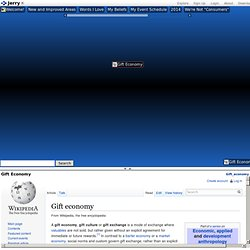 Gift economy - web brain