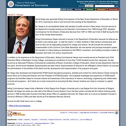 Chris Cerf: New Jersey Department of Education