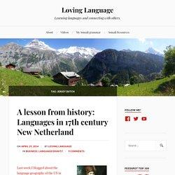 Jersey Dutch – Loving Language