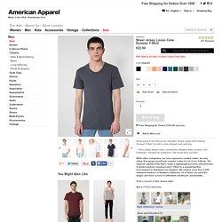 T-shirt d'Eté à Col Ample en Coton Jersey Ultra-Fin