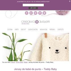 Jersey de Bebé de Punto - Teddy Baby [ Tutorial y Patrón Gratis ]