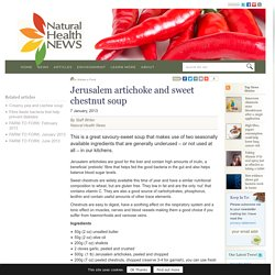 Jerusalem artichoke and sweet chestnut soup