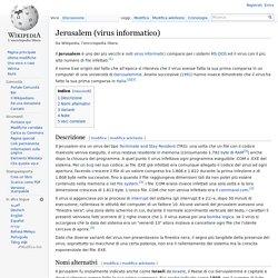 Jerusalem (virus informatico)