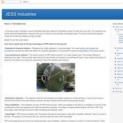 Important benefits of FRP acid tanks