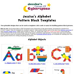 Jessica's Alphabet Pattern Block Templates