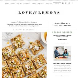 Jessica's Pistachio Oat Squares Recipe - Love and Lemons