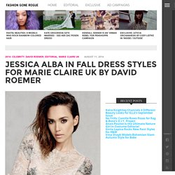 Jessica Alba in Fall Dress Styles for David Roemer Shoot in Marie Claire UK