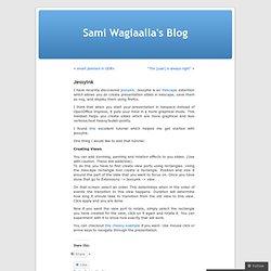 Sami Wagiaalla's Blog