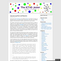 The ICT4D Jester