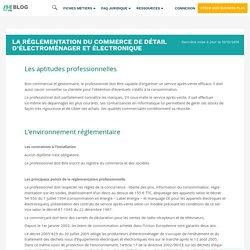 La réglementation du commerce de détail d'électroménager et électronique - JeSuisEntrepreneur