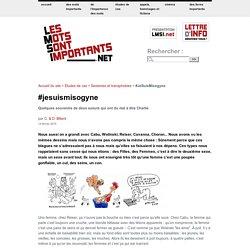 #JeSuisMisogyne