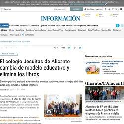 El colegio Jesuitas de Alicante cambia de modelo educativo y elimina los libros