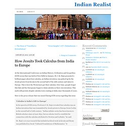 How Jesuits Took Calculus from India to Europe