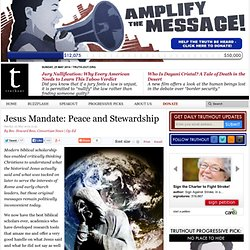 Jesus Mandate: Peace and Stewardship