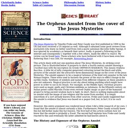 The Jesus Mysteries Orpheus Amulet