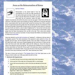 Jesus as a reincarnation of Horus
