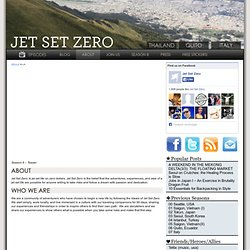 Jet Set Zero - Travel Show