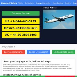 JetBlue Airlines Phone Number - (844) 445-5739