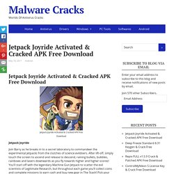 Jetpack Joyride Activated & Cracked APK Free Download