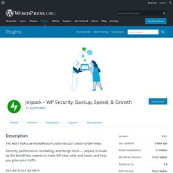 Jetpack by WordPress.com — WordPress Plugins