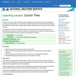 NWS JetStream Learning Lesson: Crunch Time