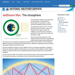 NWS JetStream MAX - The Structure of the Ionosphere