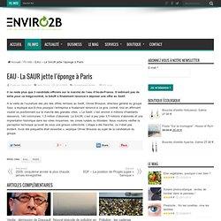 EAU – La SAUR jette l'éponge à Paris