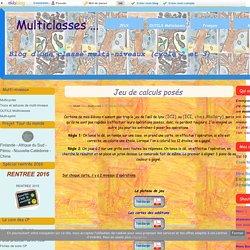 Jeu de calculs posés - Multiclasses ...