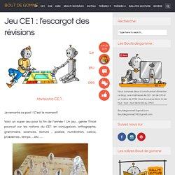 Jeu CE1 : l'escargot des révisions