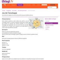 Jeu de l'enveloppe - Thiagi.fr