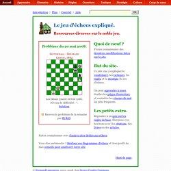 Jeu d'échecs expliqué