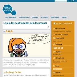 Le jeu des sept familles des documents – Mission laïque française