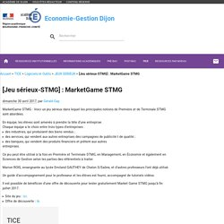 [Jeu sérieux-STMG] : MarketGame STMG