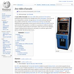 Jeu vidéo d'arcade