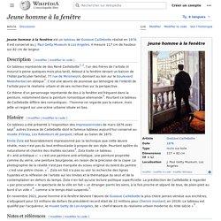 Jeune homme à la fenêtre (wikipédia)