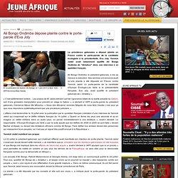 Ali Bongo Ondimba dépose plainte contre le porte-parole d'Eva Joly
