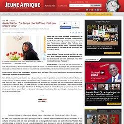 """Axelle Kabou : """"Le temps pour l'Afrique n'est pas encore venu"""""""