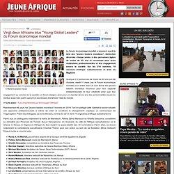 """Vingt-deux Africains élus """"Young Global Leaders"""" du Forum économique mondial"""
