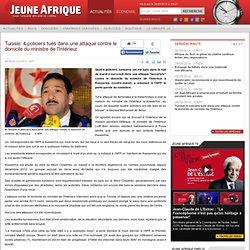 Tunisie: 4 policiers tués dans une attaque contre le domicile du ministre de l'Intérieur
