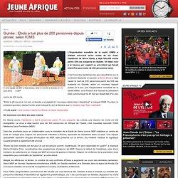 Guinée : Ebola a tué plus de 200 personnes depuis janvier, selon l'OMS